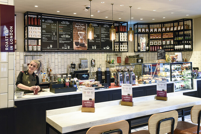 Costa Coffee store format category development