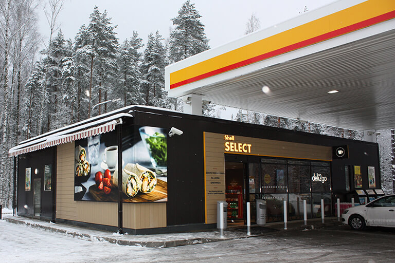 Shell forecourt retail layout
