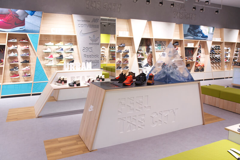 Streetbeat sports retail design