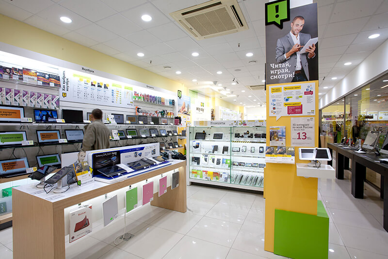Beeline telecom services retail design