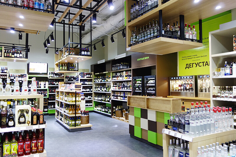 Wine & Spirit retail design branding