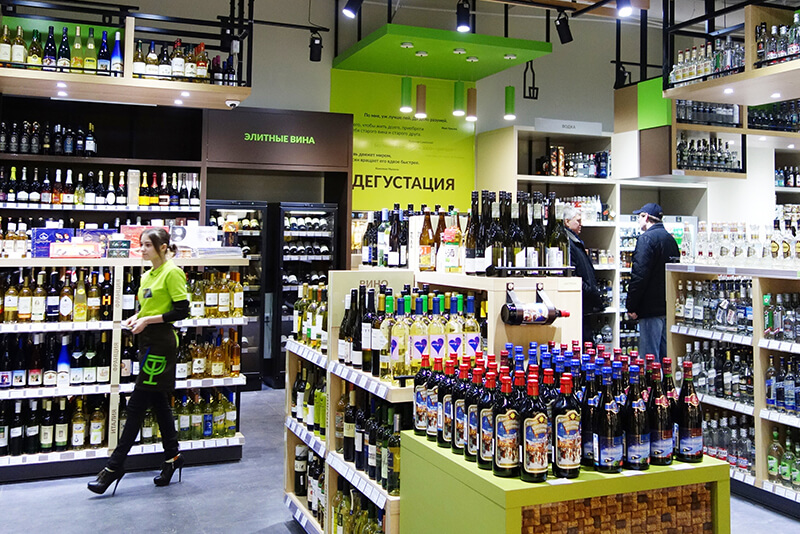 Wine & Spirit retail design branding