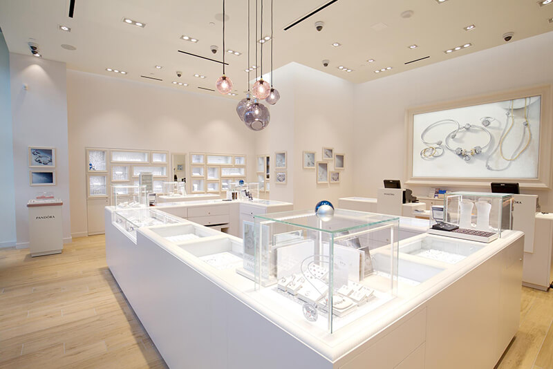 Pandora jewellery retail store shopfitting