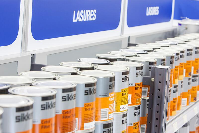 Sikkens paint retail fixtures design